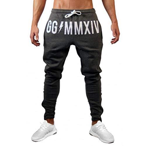 Mens Pants Joggers Lässige Fitness Trainingsanzug Hose Kordelzug Elastische Taille Elastische Stoff Freizeit Und Sportliche Stil Hosen -