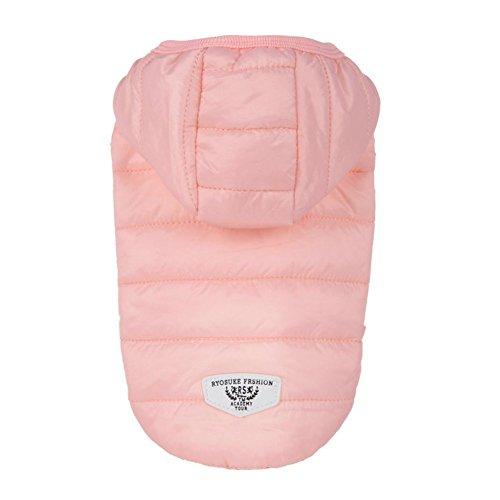 Wetter Für Gute Kostüm Kaltes - Etophigh Haustier-Wintermantel Warme Doggy-Jacke mit Pelzkragen-Hundekleid für kaltes Wetter-Welpen-Stärke-Normallack-Kostüm (M, Pink)