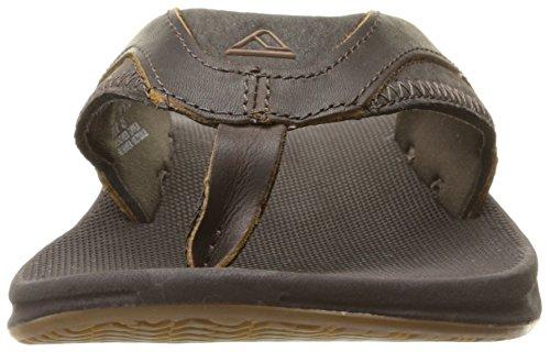 Reef Herren Leather Fanning Sandalen, Braun (Brown) Braun
