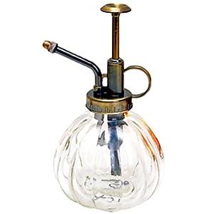 westeng 1PCS Flasche Glas Spray Flasche Bewässerung Spray Sprinkler Mode Retro alten Sukkulenten Pflanzen von innen 9*16cm weiß