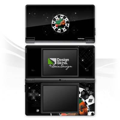 Nintendo Dsi-chip (Nintendo DSi Case Skin Sticker aus Vinyl-Folie Aufkleber Poker Chip Herz)