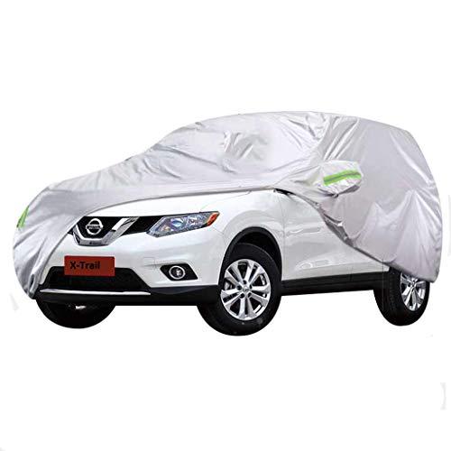 Autoabdeckung Nissan X-Trail Autoabdeckung Autoabdeckung Wasserdichte Schneeabdeckung All Weather Regen und Schnee Creme Anti-Korrosion Staubdicht Outdoor UV-Schutz (Farbe : Silber, größe : 2008)