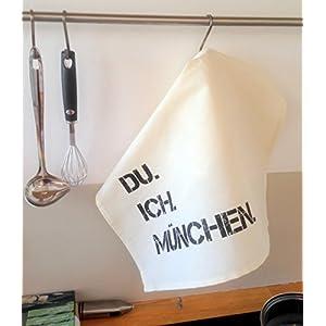 Du. Ich. München. Geschirrtücher Set 2 Stück Handtuch Küche