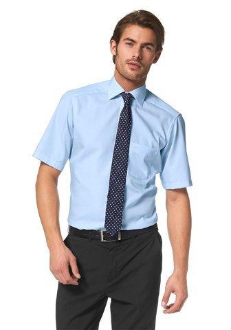 Olymp Luxor Herren Modern Fit Hemd, 0300/12/15, Halbarm, Bleu, 44 -