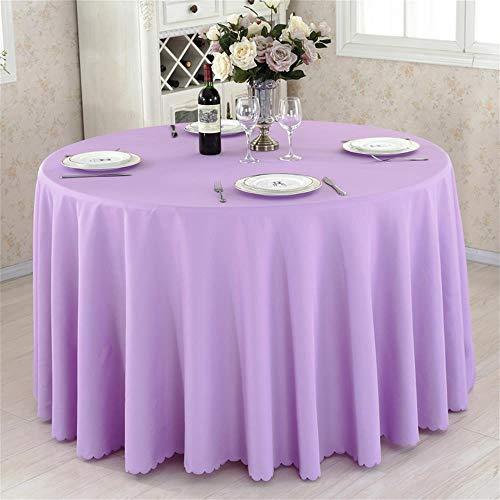 Lila Runde Hotel Round Table Cloth Restaurant Hochzeit Tischdecke Konferenztisch Abdeckung...
