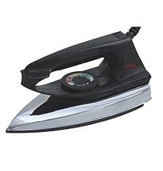 Inspire Regular Dry Iron, 750W Plastic Body Dry Iron (Black)