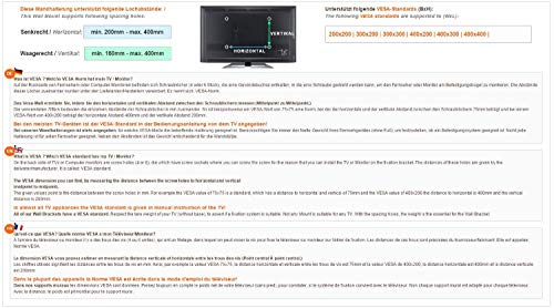 RICOO LCD TV Wandhalter Schwenkbar Neigbar S1544 Fernseher Wandhalterung Halterung Fernsehhalterung LED Flachbildschirm ca.76-165cm / 30′- 32′ – 42′ – 47′- 55′ – 65′ Zoll - 6
