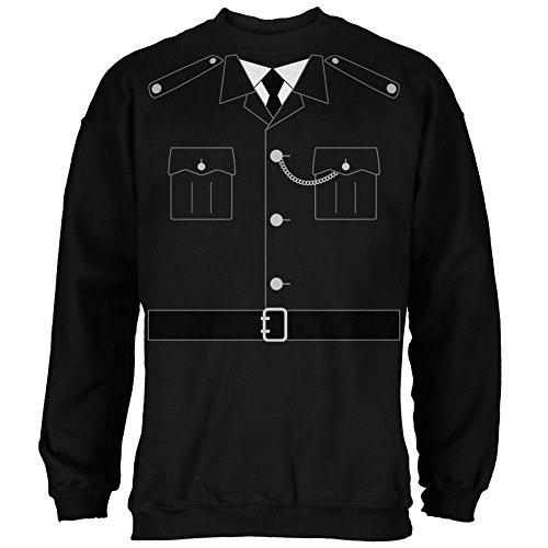 Halloween britische Bobby Kupfer Polizei Kostüm Herren Sweatshirt schwarz 3 (Britische Kostüme Bobby)