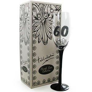 Boxer Gifts French Lace Flûte à champagne Motif 60 ans Transparent