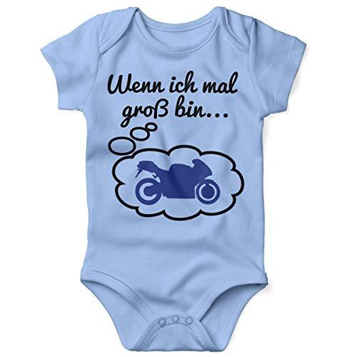 Motorrad Baby Kostüm - Mikalino Babybody mit Spruch für Jungen