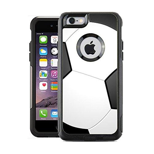 Schützende Design-Vinyl Haut Aufkleber für OtterBox Commuter iPhone 6/6S Case/Cover-Fußball Design Muster-Nur Skins und Nicht Fall-von [teleskins] (Skin 6 Iphone Otterbox-case)