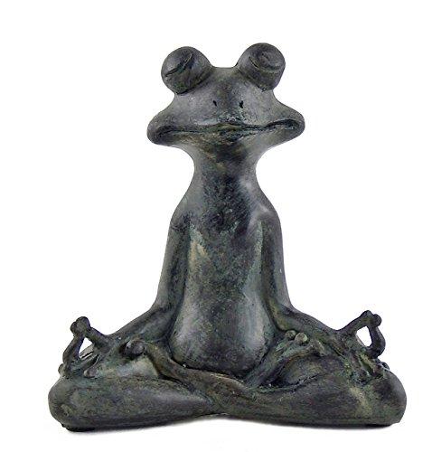Bellaa 23101 Grenouille Statue Good Luck Yoga Lotus Méditation Feng Shui Vastu