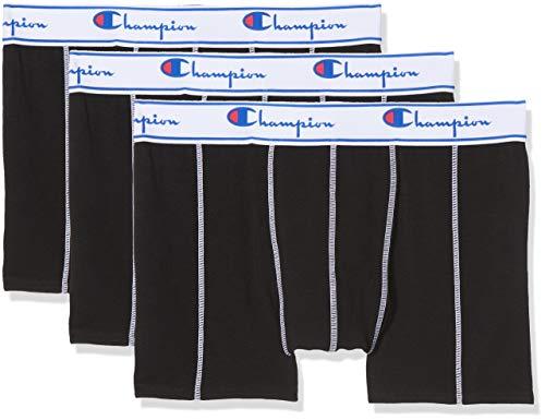 Champion Coton, Boxer de Bain Homme, Noir (Noir 8mj), Large (Taille Fabricant: L) (lot de 3)