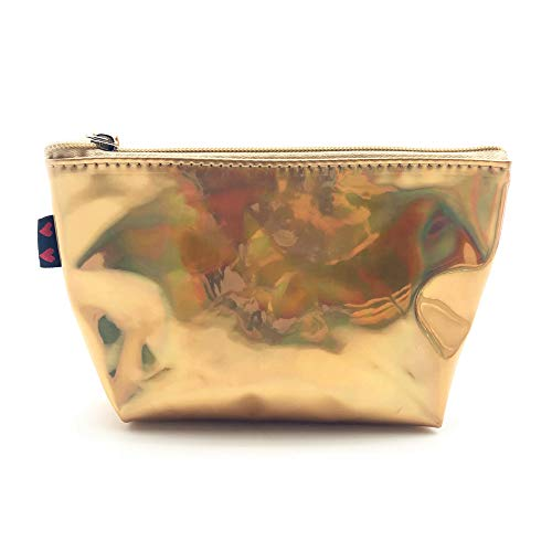 Leey Trousse de Toilette,Sac cosmétique coloré de sac de maquillage de voyage de sac de crayon de stylo de papeterie capacité élevée Sac cosmétique à main coloré sac de laser PU