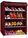 #5: Ebee Store 4 Shalves Shoe rack (Maroon)