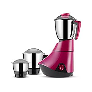 Butterfly Splendid 750-Watt Mixer Grinder with 3 Jars (Pink)