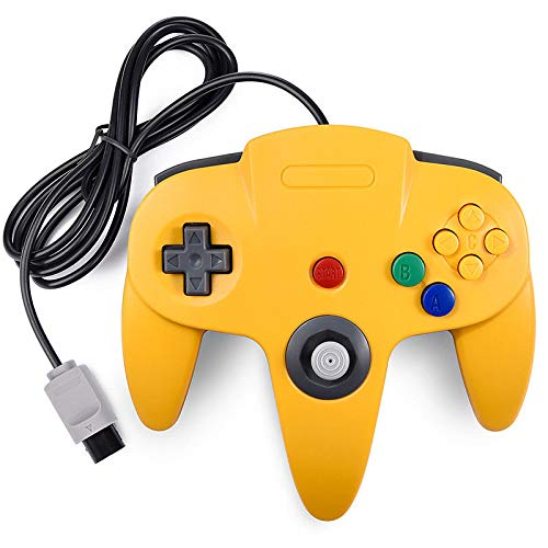 Wiresmith Classic Nintendo N64 Joystick Controller, Gelb (Nintendo 64 Spiele-bundle)