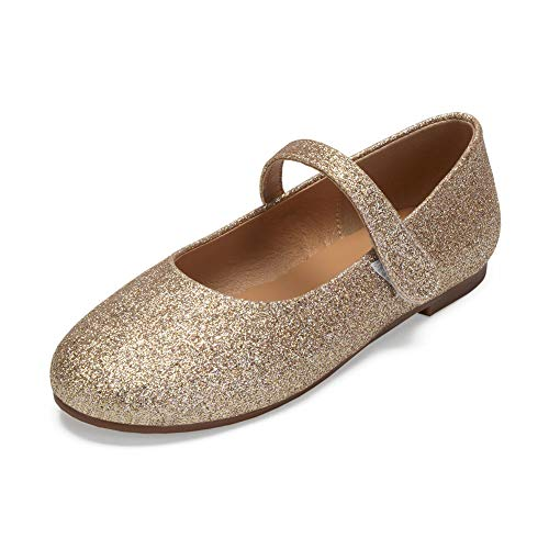 er Mädchen Ballerinas Schuhe für Partys und Freizeit in Vielen Farben,Champagne,36EU ()
