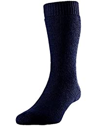 SUB ZERO Wool Blend Cushioned Thermal Warm Insulated Winter Mountain Walking Boot Socks Short Navy 1 Pair