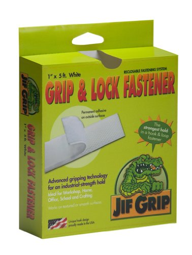jifram-jif-grip-14000085-1-inch-by-5-feet-hook-and-loop-fastener-with-permanent-adhesive-back-white