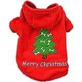 ropa de abrigo para mascotas navidad,RETUROM nueva Navidad para mascotas ropa para perros perrito traje de Santa Claus vestir exteriores gruesa ropa Escudo (S)