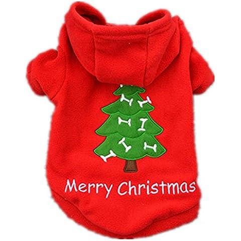ropa de abrigo para mascotas navidad,RETUROM nueva Navidad para mascotas ropa para perros perrito traje de Santa Claus vestir exteriores gruesa ropa Escudo
