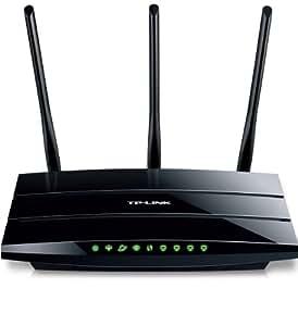 TP-Link TD-W8970B WLAN Router (ADSL/ADSL2+, 300Mbit/s, Annex B/J, Unterstützt IP-basierte Anschlüsse, 4 Gigabit LAN, 2 USB Ports für FTP und Mediaserver)