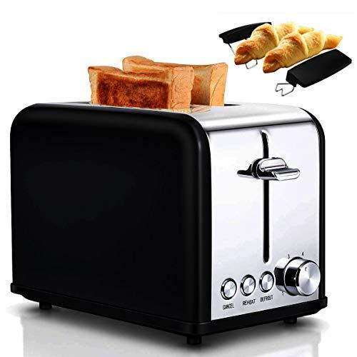 Tostapane Doppio Slot Un dispositivo ideale per la colazione della tua famiglia. Ottimo per prepara un toast croccante. Il tostapane può ospitare 2 fette di pane per toast o tramezzini alla volta. Le fette vengono centrate automaticamente per ottener...