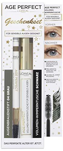 L'Oréal Paris Age Perfect Geschenkset bestehend aus schwarzer Volumen-Wimperntusche und gratis...