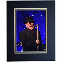 Sportagraphs Van Morrison Signed Autograph 10x8 photo display Music Memorabilia AFTAL COA PERFECT GIFT