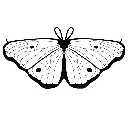 YWLINK Kind Bunt Chiffon Karneval Schmetterling Flügel Creative Manuell DIY Graffiti Schal Jungen MäDchen Cosplay ZubehöR Weihnachten Halloween FlüGel Umhang (Diy Herren Halloween Kostüm)