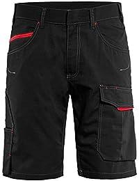 Blakläder 149913309956C60Servicio pantalones cortos tamaño en negro-rojo, C60