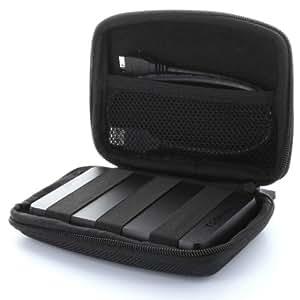 Universal Hard Case Tasche für Festplatte HDD SSD - 2,5 Zoll (6,4cm) -- bis max. 127,5 x 80 x 30 mm
