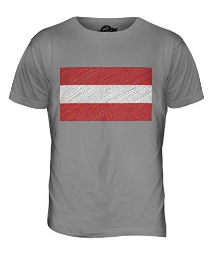 CandyMix Österreich Kritzelte Flagge Herren T Shirt Hellgrau