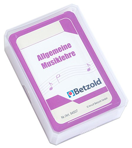 """Betzold 47 Spielkarten """"Allgemeine Musiklehre"""", Musikunterricht, Notenlehre, Sprachförderung, im praktischen und stabilen Kunststoffetui"""