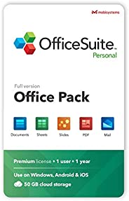OfficeSuite Personal Compatible with Microsoft® Office Word Excel & PowerPoint® and Adobe PDF for PC Windo