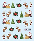 Weihnachten Aufkleber Wassertransfer Maniküre Nail Art Sticker Tips BLE114 Nail Sticker Tattoo - FashionLife