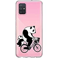 Oihxse Cristal Compatible con Samsung Galaxy A40s Funda Ultra-Delgado Silicona TPU Suave Protector Estuche Creativa Patrón Panda Protector Anti-Choque Carcasa Cover(Panda A10)
