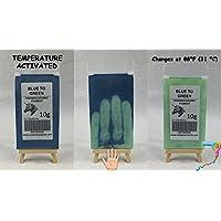 10g de Thermochromic Temperatura activado pigmento–Múltiples Colores–calor sensible cambio de color Polvo para pintura, esmaltes de uñas, tejido, pantalla de tinta de impresión, arte, cerámica, y más BLUE TO GREEN