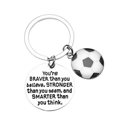 Schlüsselanhänger mit Fußball-Anhänger, inspirierend,