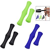 iPobie 3 Pcs Protector de Dedos de Arco, Dedo de Silicona Equipo de Protección de la Cuerda del Arco Accesorios de Arco y Flecha Apto para Principiantes(Negro, Azul, Verde)