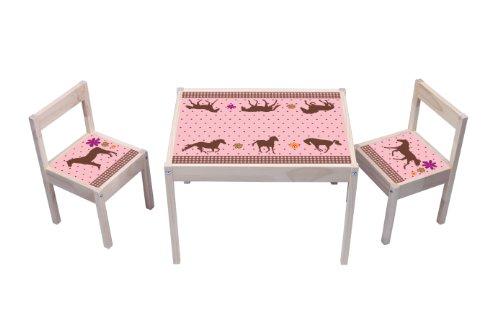 """""""Pferdewelt"""" Aufkleber - KA10 - (Möbel nicht inklusive) - Möbelsticker passend für die Kindersitzgruppe LÄTT von IKEA"""