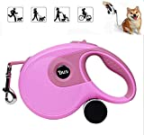 WIVION Einziehbare Hundeleine, Hundeleine, Einziehbare Hundeleine extra lang 26 ft für mittelgroßen Hund (pink)