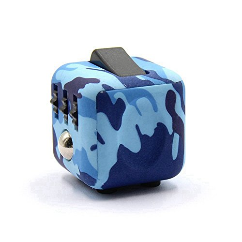 Dohomai 6 sides Fidget Cube Decompression Dice for Children and Adults Relieves Stress Anxiety and Attention Toy at your finger tips (Army blue) - 3