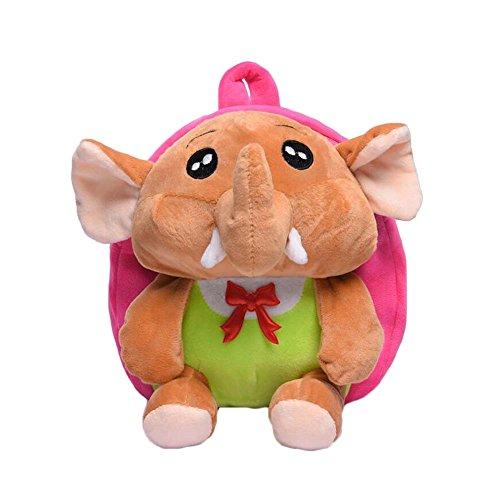 Black Temptation Lindo pequeño Elefante Felpa Mochila Mochilas Escolares Bolsos Multiusos Regalo de los niños#6
