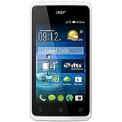 'Acer Liquid Z2004Go Blanc-Smartphone (10,16cm (4), 800x 480pixels, 1GHz, MediaTek, mt6572m, 512MB)