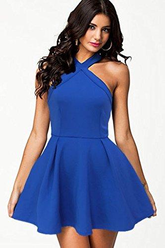 KingField - Robe - Moulante - Femme M Bleu - Bleu