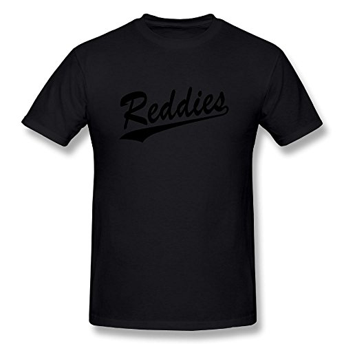 Fanshangzhua Men's Reddies T-shirt L Black Short Sleeve (Baseball Uniformen Design)