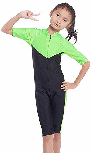 YEESAM Kinder UV Schutz Schutzkleidung Wetsuit Badeanzug Badebekleidung Wassersport Anzug Shorty - Bescheiden Bademode Muslimische