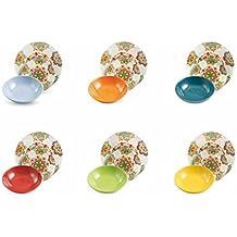 VILLA D'ESTE HOME Vajilla 18 Piezas Malika Multicolor